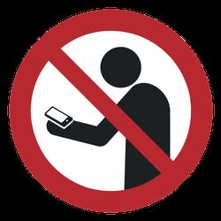 Vorlage: Symbol Smartphone benutzen beim Gehen verboten (Smombie)