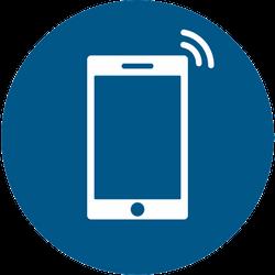 Vorlage: Symbol Smartphone benutzen erlaubt