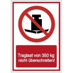 Vorlage: Traglast von 350 kg nicht überschreiten!