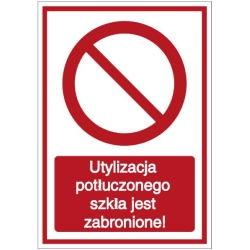 Vorlage: Utylizacja potłuczonego szkła jest zabronione! - Entsorgen von zerbrochenem Glas verboten! (Polnisch)