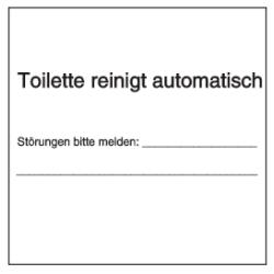 Toilette reinigt automatisch - Störungen bitte melden