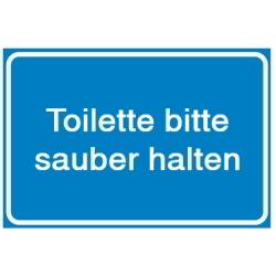 Toilette bitte sauber halten