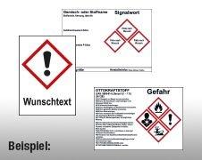 Individuelle GHS/CLP Gefahrstoffetiketten