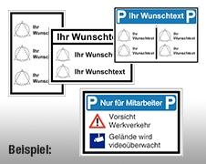 Individuelle Parkplatz-Kombi-Schilder