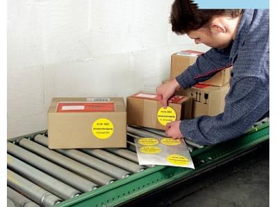 Runde Papieretiketten für Laserdrucker, Tintenstrahldrucker und Kopierer