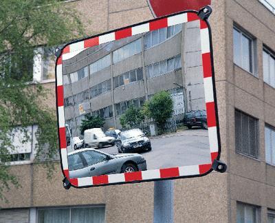 Verkehrsspiegel rechteckig