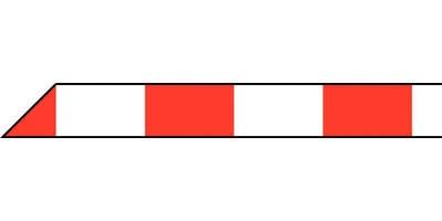 Absperrband mit Blockstreifen rot weiß