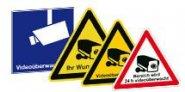 Videoüberwachung-Schilder und Aufkleber