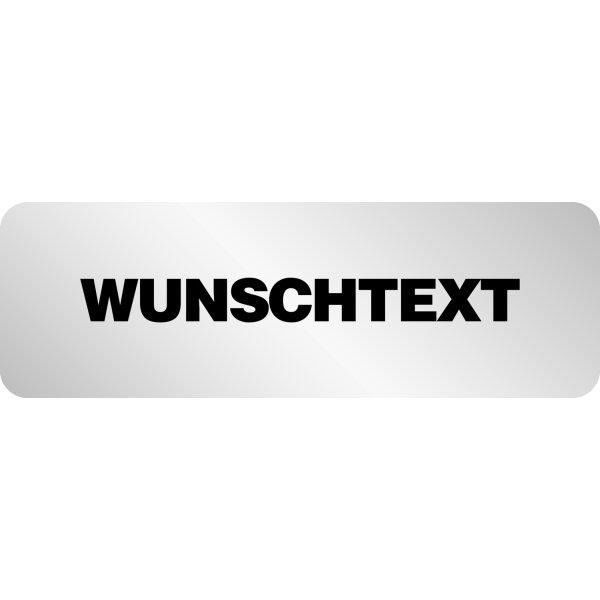 "Edelstahl-Text-Schilder ""Text nach Wunsch"""