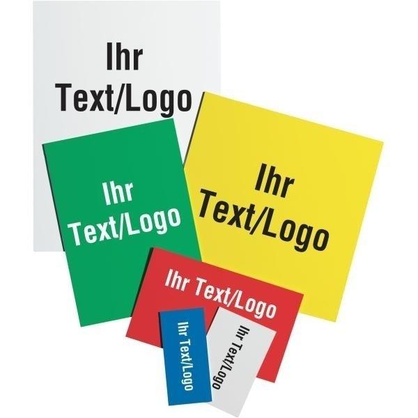 Kunststoff-Schilder in kleinen Mengen mit Logo und Text nach Wunsch