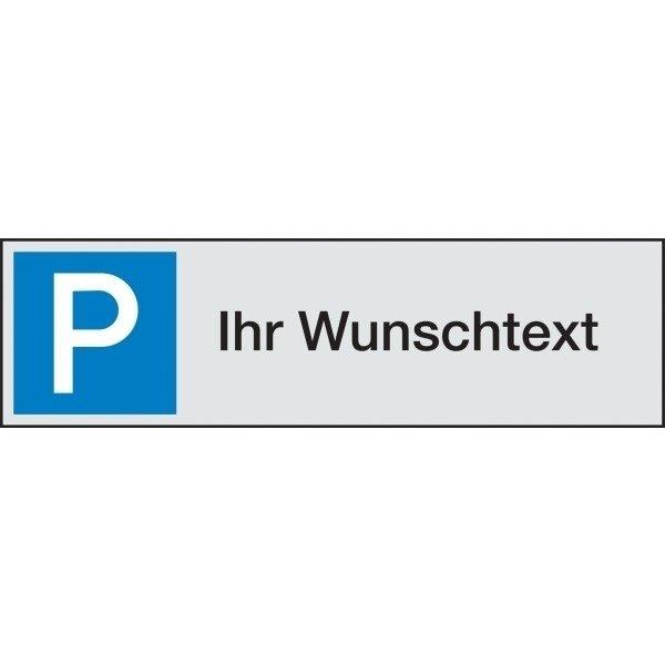 PREMIUM Parkplatz-Reservierungsschilder mit Text nach Wunsch, Aluminium