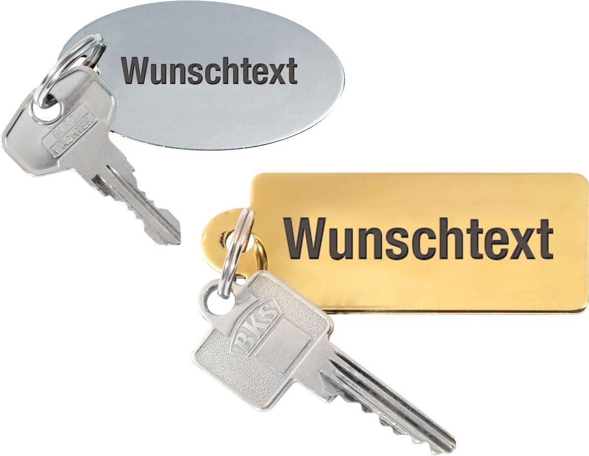 Schlüsselschilder aus Aluminium oder Messing, graviert