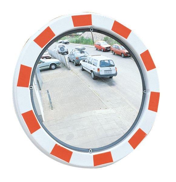 Verkehrsspiegel aus Acrylglas, rund