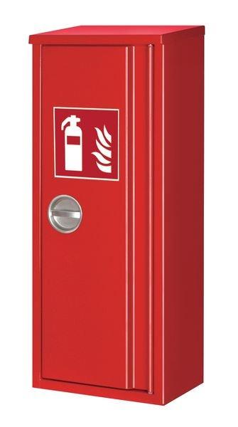 Feuerlöscher-Schutzschränke mit Schrägdach, bis 12 kg