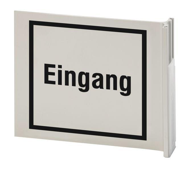 Eingang - Alu-Fahnenschild zur Gebäudekennzeichnung