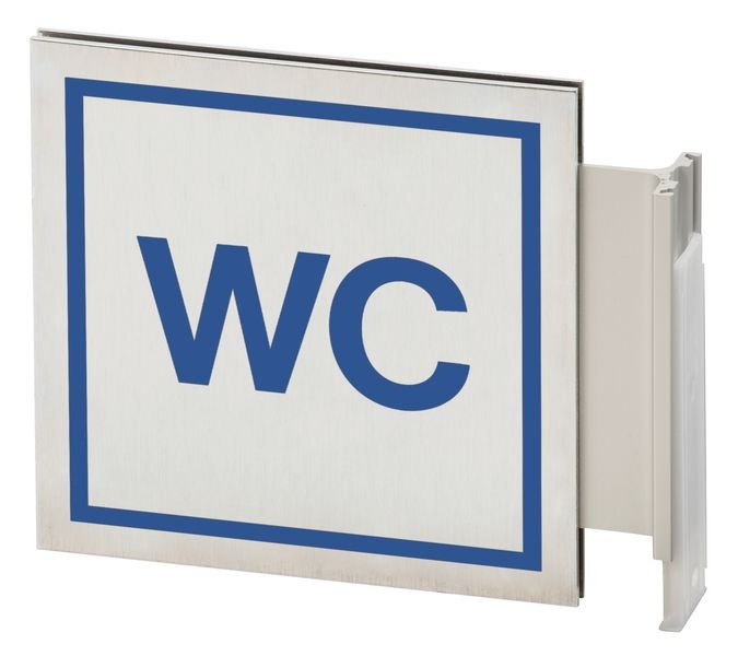 WC - Alu-Fahnenschild zur Gebäudekennzeichnung