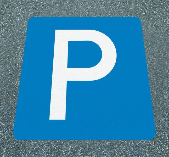 Parkplatz – Asphaltfolien zur Parkplatzkennzeichnung, R10 nach DIN 51130/ASR A1.5/1,2