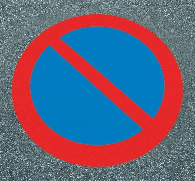 Eingeschränktes Haltverbot – Asphaltfolien zur Parkplatzkennzeichnung, R10 nach DIN 51130/ASR A1.5/1,2