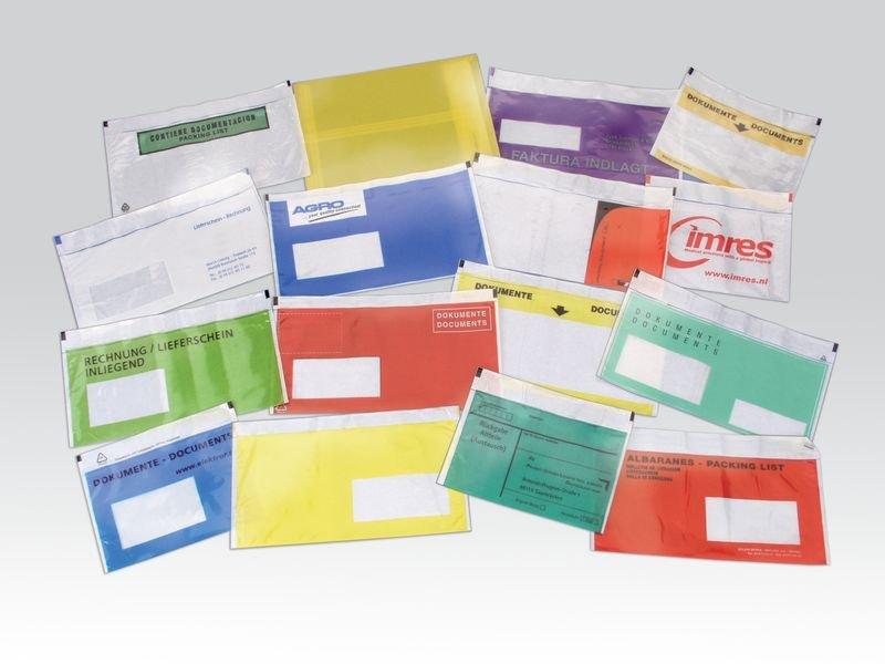 Selbstklebetaschen für Versandpapiere mit individuellem Aufdruck
