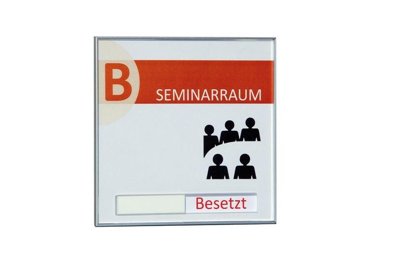 Türschild mit Frei-/Besetzt-Schieber - SIGN Beschilderungssysteme