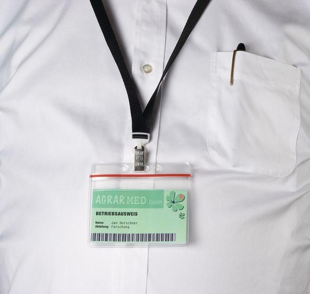 Ausweis-/Kartenschoner mit Gripverschluss, elastisch
