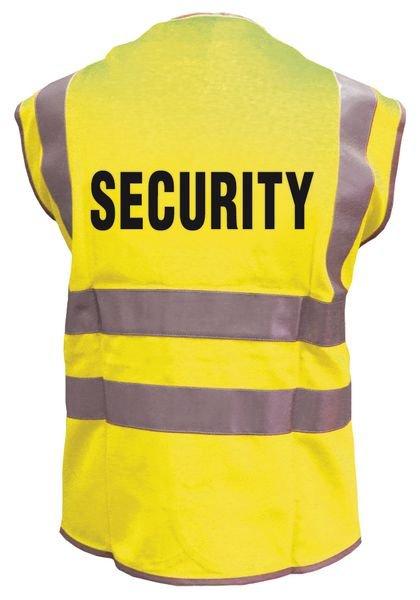 """Warnwesten mit """"SECURITY"""" Standardtext"""