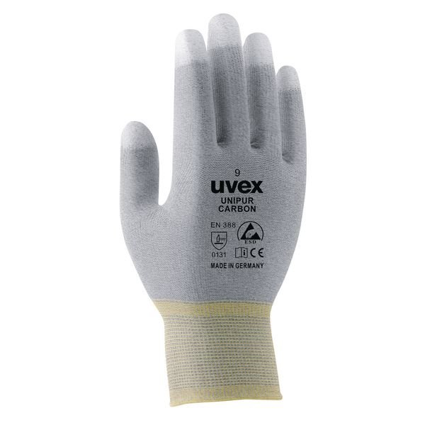uvex Schutzhandschuhe mit Carbon-Mikronoppen, antistatisch