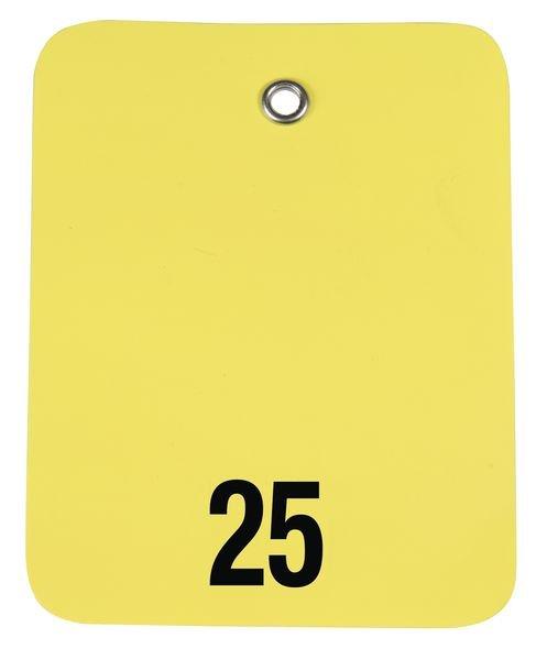 Kollianhänger aus Kunststoff, nummeriert