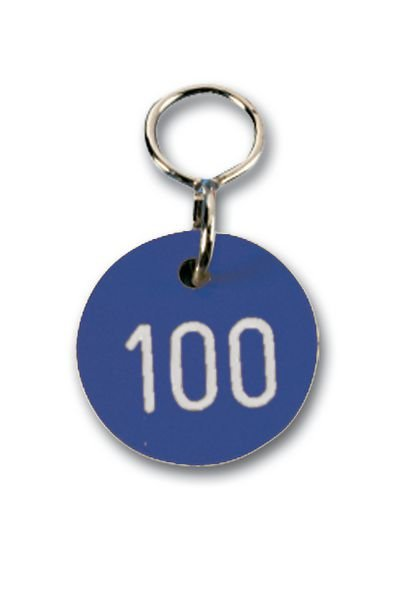 Schlüssel-/Ventilmarken aus Kunststoff, nummeriert