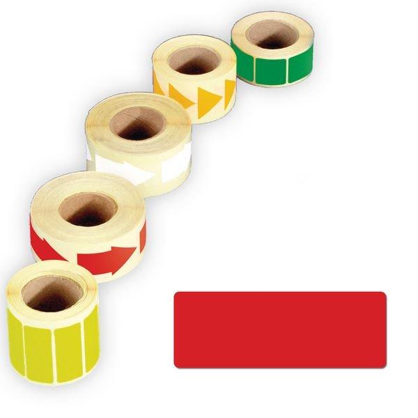 Papier-Rechtecke, beschriftbar, auf Rolle
