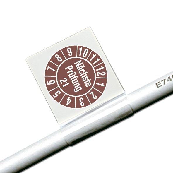 Nächste Prüfung/Jahreszahl 2-stellig - Kabelprüfplaketten