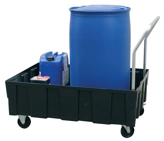 Rollwagen mit Auffangwanne aus Polyethylen