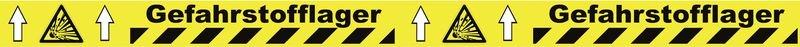 Warnung vor explosionsgefährlichen Stoffen - Bodenmarkierbänder für Gefahrstofflager, staplergeeignet