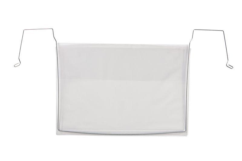 Drahtbügeltaschen, transparent, mit Regenschutzklappe