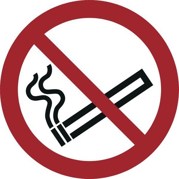 Rauchen verboten - Verbotszeichen zur Bodenmarkierung