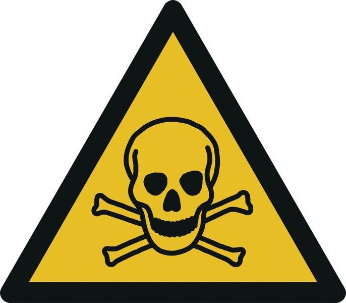 Warnung vor giftigen Stoffen - Warnzeichen zur Bodenmarkierung