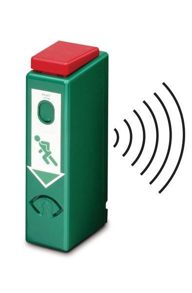 Einhand-Funk-Türwächter mit Voralarm, DIN EN 179, DIN EN 1125