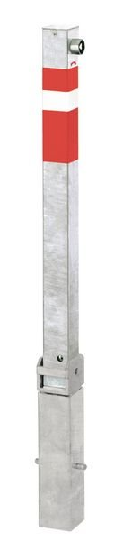 Absperrpfosten aus Stahl, umlegbar, herausnehmbar
