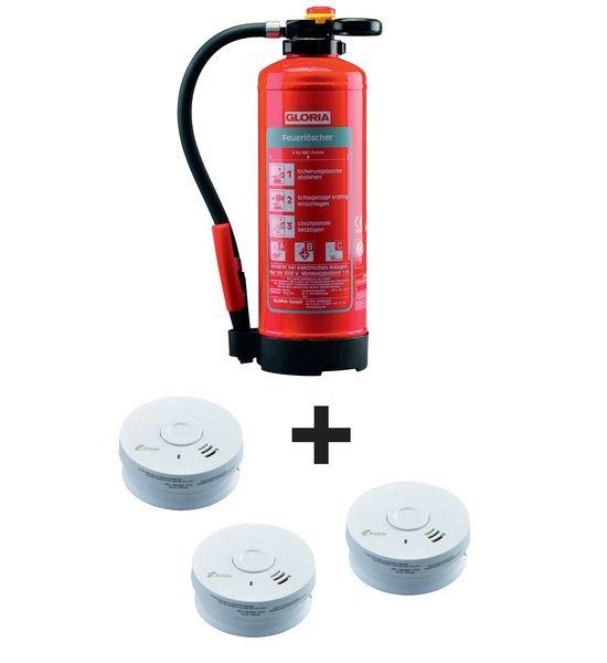 Feuerlöscher-Rauchmelder-Sets