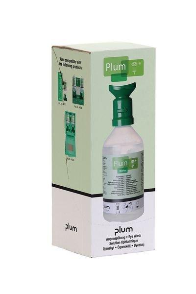 Plum Kochsalzlösung (0,9 %) - Augenspülflaschen im Einzelkarton, mit Halter