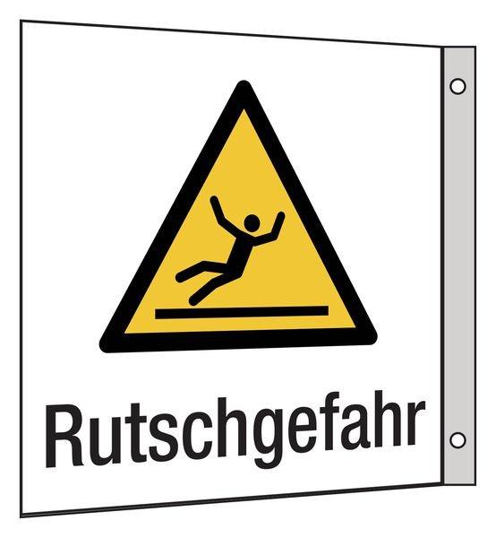Warnung vor Rutschgefahr - Hinweisschilder Public, Symbole mit Text