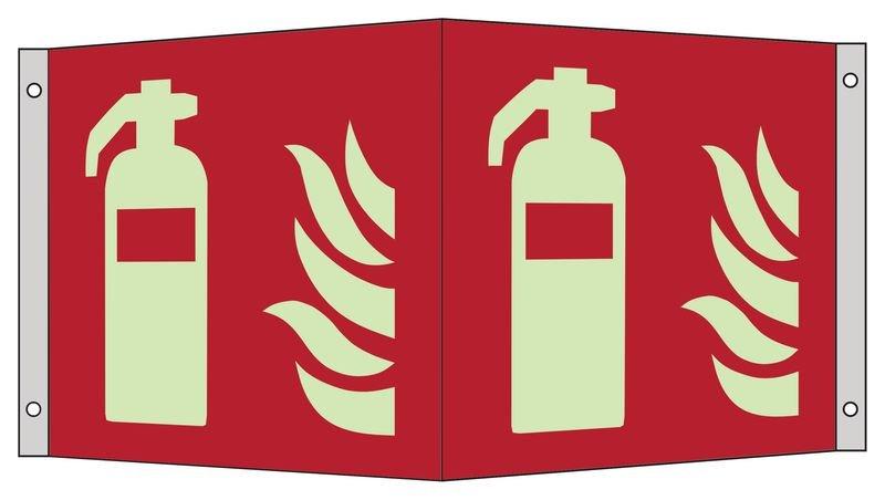 Feuerlöscher - Brandschutzzeichen Fahnen-, Winkel- und Deckenschilder, ASR A1.3-2013, DIN EN ISO 7010
