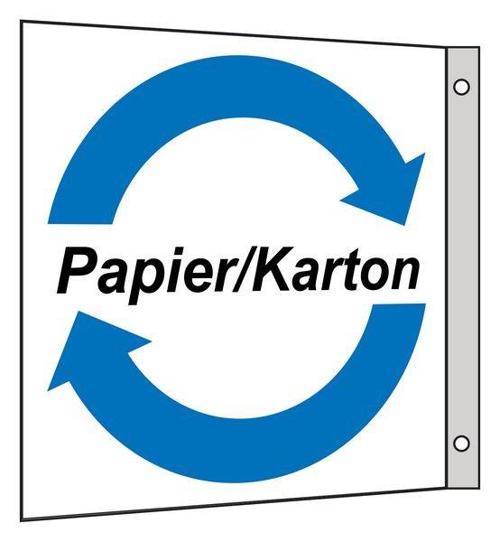 Papier/Karton - Fahnen- und Winkelschilder für Wertstoffe