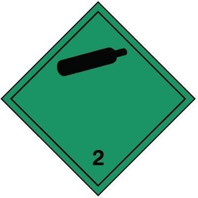 Nicht brennbares und giftiges Gas 2.2 - Gefahrzettel-Schilder zum Transport von Gefahrgut, Aluminium, ADR, RID, IMO, IATA, GGVSE, IMDG