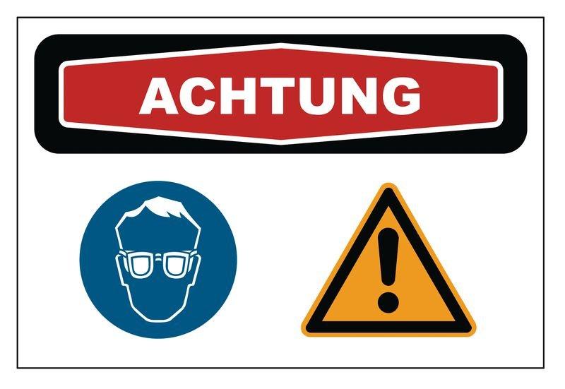 """Focus-Schilder """"Augenschutz"""" mit Symbolen"""
