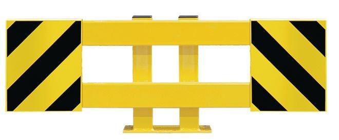 Rammschutz-Plankensystem, ausziehbar