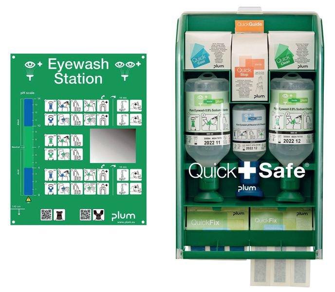 PLUM Augen-Notfall-Box zur Wandmontage, Industrie