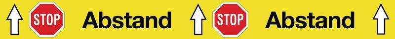"Antirutsch-Bodenmarkierung ""STOP Abstand STOP Abstand"""