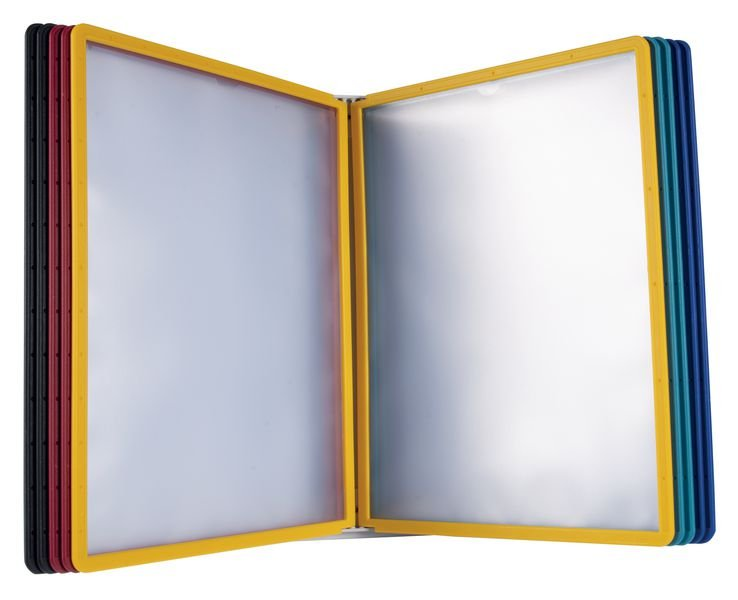 Tischständer mit Sichttafeln für DURABLE Kunststoff-Sichttafel-Systeme, massiv