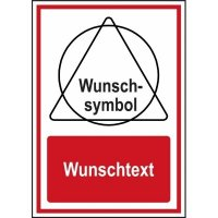 DESIGN Brandschutz-Kombi-Schilder mit Symbol und Text nach Wunsch